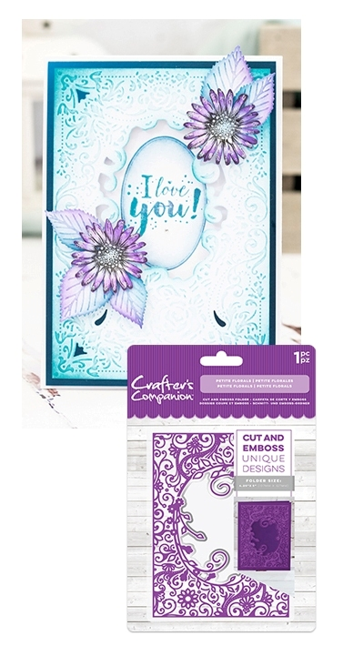 Cut And Emboss Folder Petite Florals Crafters Companion