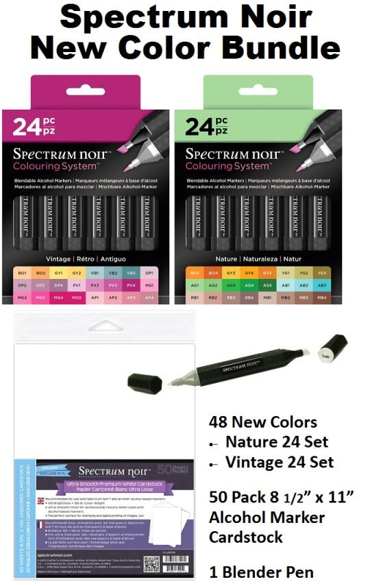 012c1ab77d3 NEW! Spectrum Noir 24 Vintage   24 Nature Bundle Deal