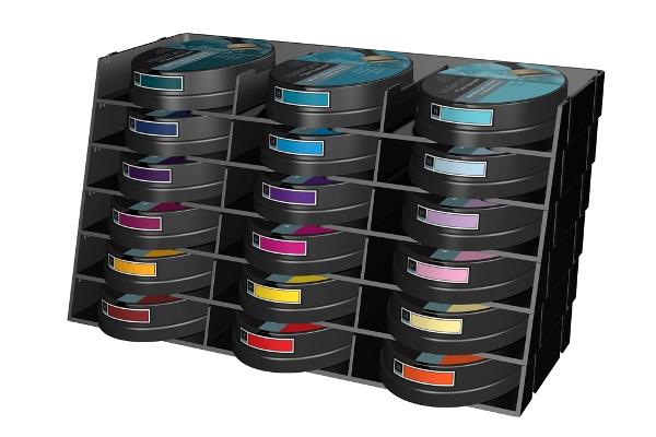Stamp Pad Storage Racks 18 Ink Capacity
