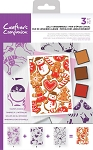 Layered Backround Stamp Set Jolly Gingerbread