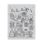 Winter Village Peek-A-Boo Cling Stamp