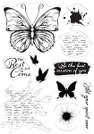 Collage Stamps Let Your Spirit Soar Butterfly