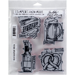 Tim Holtz Stamp Beer 7x8.5