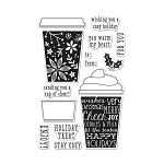 Holiday Stamp Set - Coffee Cup Tags