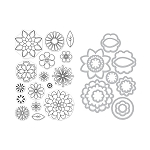 Stamp & Die Combo Set - Blossoms for Coloring