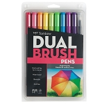 Tombow Dual Brush Pen 10 pc Bright
