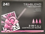 TriBlend - 3-in-1 Alcohol Marker by Spectrum Noir FIRST BOX SET of 24 Essential Blends
