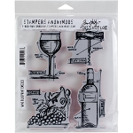 Tim Holtz Stamp Wine 7x8.5