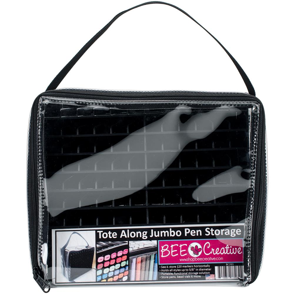 Jumbo Tote Along Pen Storage   Bag With Black Racks To Hold 120 Markers