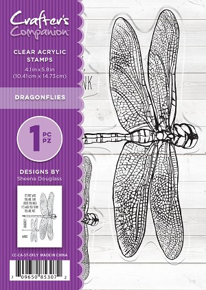 Crafters Companion  A6 Clear Stamp - Dragonfly