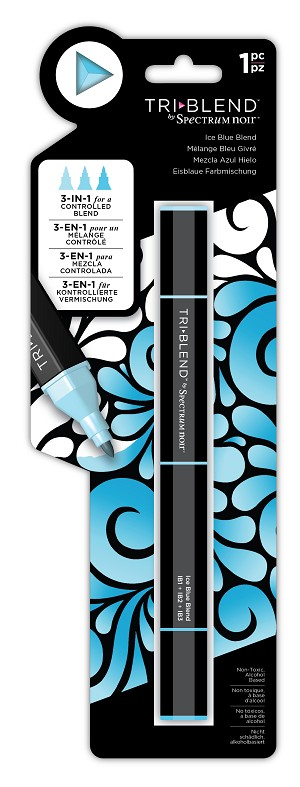 TriBlend - Ice Blue - 3-in-1 Alcohol Marker by Spectrum Noir