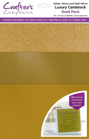 Luxury Cardstock Pack 30 ct - Gold