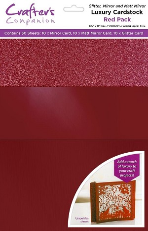 Luxury Cardstock Pack 30 ct - Red