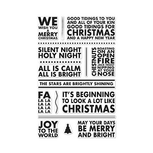 Stamp Set Sayings - Poster Christmas Carols