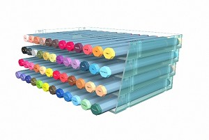 4 Clear Desktop Marker Storage Trays (Holds 48 Pens!)
