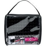 Jumbo Tote Along Pen Storage - Bag with Black Racks to Hold 120 Markers