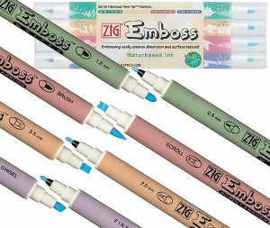 Zig Embossing Twin Tip 4 pc Marker Set