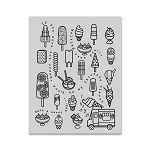 Ice Cream Cling Background Stamp