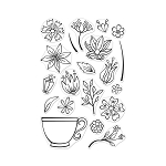 Stamp Set Teacup Flowers