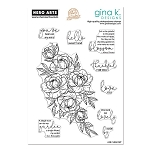 Gina K. Designs Cleat Stamp Set Friendship Blooms