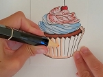 Make & Take Cupcake Card Kit - Alcohol Marker Coloring