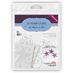 3D Foam Star Frames 48 pc