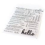 Simply Sentiments - Hello - Jumbo 6x8 Stamp