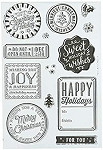 Stamp Holiday Badges