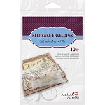 Clear Keepsake Envelopes 10 asst