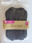 Tag Set Black Fancy Edge 10 pc