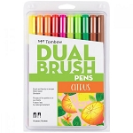 Tombow Dual Brush Pens 10 pk Citrus