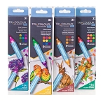 Spectrum Noir TriBlend AQUA Markers 4 Set Bundle