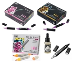 TriBlend Alcohol Marker Super Bundle - 3 Box Sets + Blender Pen, Blender Ink