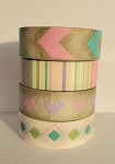 Washi Tape Bundle #4 - 4 Rolls